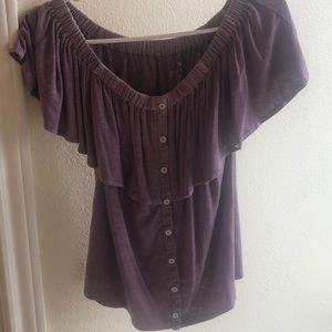 American Eagle purple shirt